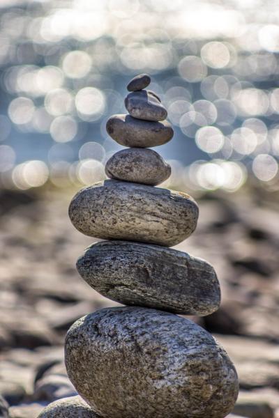 gewoontes - houden je in eenwicht