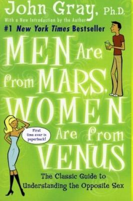 Boekbespreking: John Gray: Men are from Mars, women are from Venus (mannen, vrouwen en relaties)